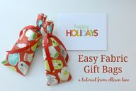 Easy Fabric Gift Bag