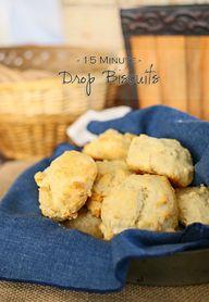 15 Minute Drop Biscu