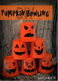 DIY Pumpkin Bowling  …