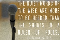The quiet words of t