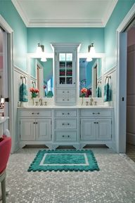 Tiffany Blue bathroo