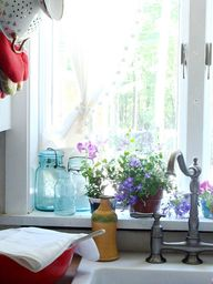 Blue Jars and Window
