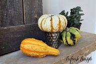 Fall Mantel #pumpkin