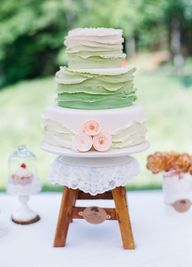Ombré green wedding