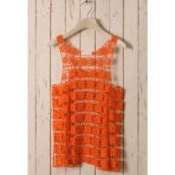 Orange Daisy Crochet Top ($40) via Polyvore