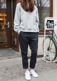 relaxed, cuffed pant