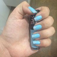 Light blue & glitter