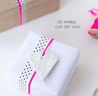 diy marble clay gift