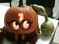 My Harry Potter Jack-O'-Lantern, complete with Nagini the gourd.