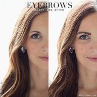 Eyebrows: Before and