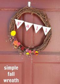 simple fall wreath o