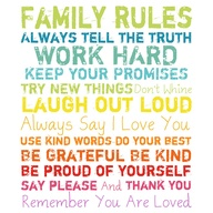 Family Rules Wall Dé