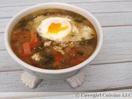 Garlic Kale Soup wit