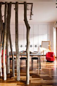 tree trunk columns b