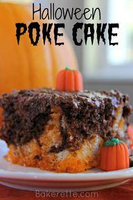 Halloween Poke Cake.