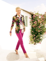 The printed blazer in the latest colorful, tropical florals #chicos
