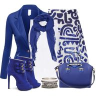 """Aztec in Blue & Whi..."