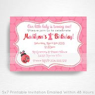 Lady Bug Party Print
