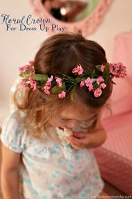 DIY floral crown tut
