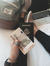 passport in hand.