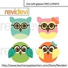 Cute owl with glasse