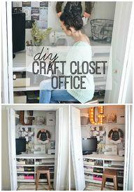 DIY craft closet off
