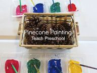 Pinecone painting is