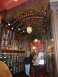 Wine room with wine