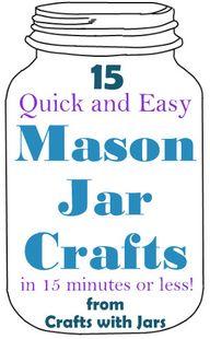15 mason jar crafts