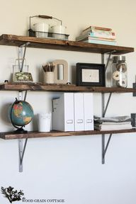 DIY Office Shelving