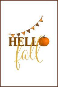 Hello Fall Free Prin