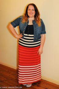 plus size stripe maxi dress from Virtu (5)