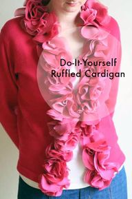 DIY Ruffled Cardigan