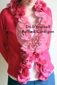 DIY Ruffled Cardigan