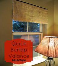 Quick Burlap Valance