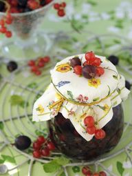 A Taste of Tradition    These gifts are reason enough to celebrate with a spring or summer brunch. Topped with a vintage, printed fabric these traditional jam jars will be the talk of the table. Go the distance and use homemade jam. Then, surprise your guests by sending them off with their own taste of your family's favorite homemade jams.