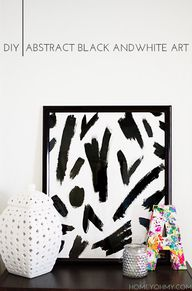 DIY Abstract Black a