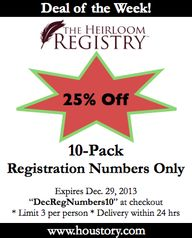 Heirloom Registry De