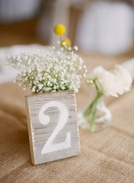 wood table numbers b
