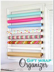 DIY Gift Wrap Organi
