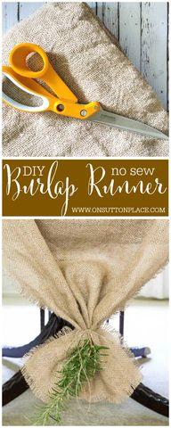 Easy No Sew Burlap T