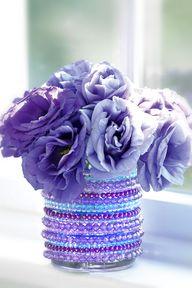 Make a jeweled vase