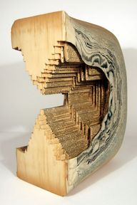 Book sculpture by Br