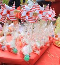 Molinillos chuches, circo - fiesta de cumpleaños Berta, en el parque