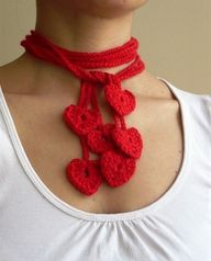 Crocheted wearable V