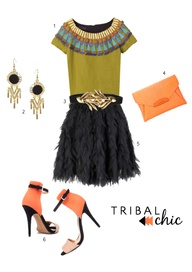 tribal chic - coral cafe