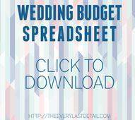 Wedding Budget Sprea