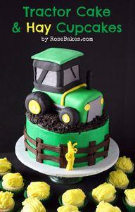 Cute tractor cake wi