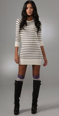 Striped sweater dres
