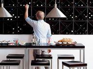 modern wine bar look